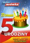 Plakat 5 Urodziny Galerii Mrówki w Ciechanowie