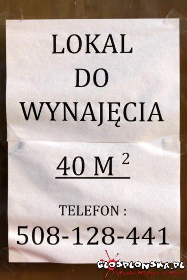 Lokal do wynajęcia w Galerii Płońsk