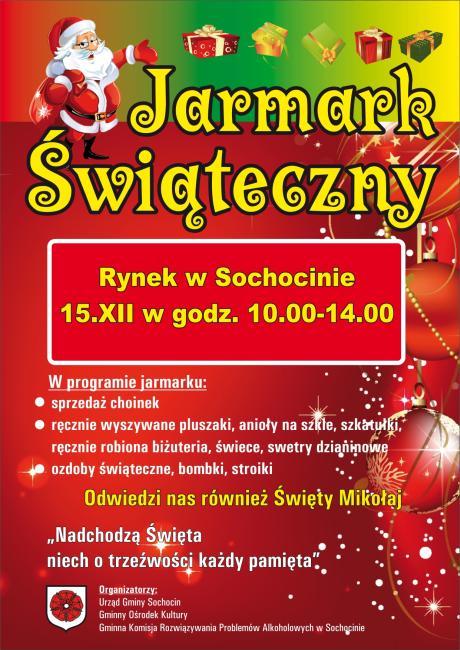 Plakat Jarmark Świąteczny 2013 Sochocin