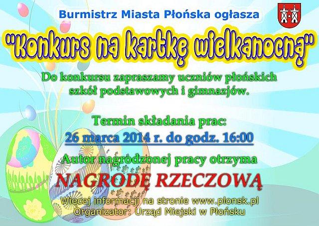 konkurs kartka wielkanocna Płońsk 2014