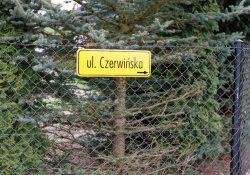 Znak ul. Czerwińska w Płońsku